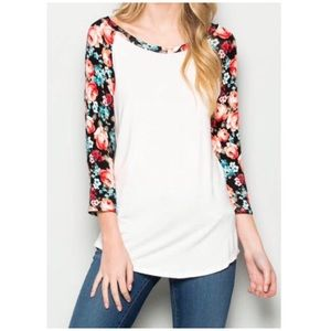 Tops - White Floral Top